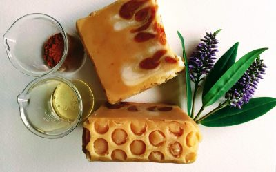 Honey pour soap